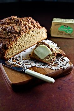 True manna ... wholemeal Irish soda bread, slathered with homemade Irish butter ... the best ever! We get ours at Adele's ... Main Street Schull, Co. Cork, Ireland