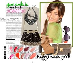 """smile:)"" by rainbowniall ❤ liked on Polyvore"