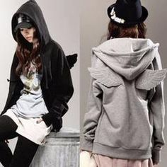 Cute Angel Wings Decorated Hoodie Jacket - Daisy Dress For Less - 1