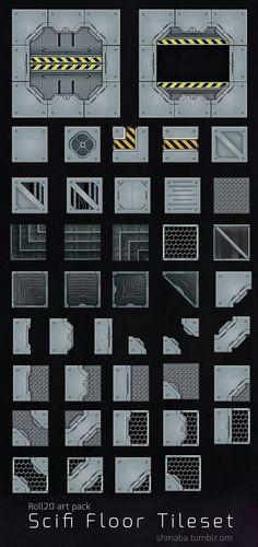 Scifi Floor tileset for tabletop games Terrain 40k, Wargaming Terrain, Zoids, Rpg Map, Spaceship Interior, Game Textures, Arte Robot, Sci Fi Environment, Mekka