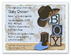 Western Cow Baby Shower Invitations Pink And Brown Personalized
