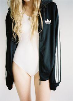 .white suit + adidas. perf