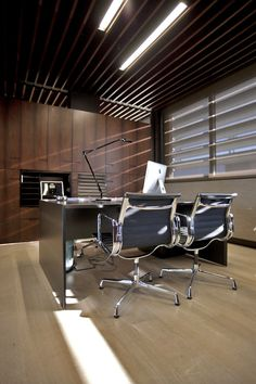 Sleek and Sophisticated Law Office by Nino Virag, such a beautiful space