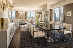 Kitchen Living Room Fendi Casa Penthouse - FENDI Casa, the newly launched home decor line by the f. Home, Luxury Dining Room, Dining Room Design, House Design, Sweet Home, Modern Dining, Luxury Living, Fendi Casa, House Interior