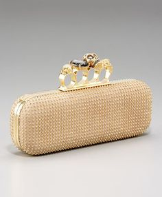 Alexander McQueen Knuckle Duster Studded Clutch Profile Photo Studded  Clutch fe9ffb01a1c95