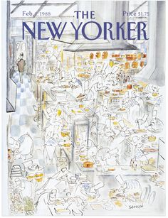 """The New Yorker - Monday, February 1, 1988 - Issue # 3285 - Vol. 63 - N° 50 - Cover by : """"Sempé"""" - Jean-Jacques Sempé"""