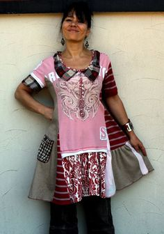 Recycled patchwork fantasy dress tunic by jamfashion on Etsy, $89.00