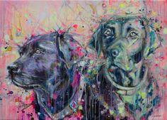 "Saatchi Online Artist: Lykke Steenbach Josephsen; Mixed Media, 2011, Painting ""Commissioned Portrait Painting"" #LykkeJosephsen"