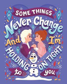 Frozen 2 Lettering Series on Behance Disney Princess Quotes, Disney Nerd, Disney Songs, Disney Quotes, Cute Disney, Disney Movies, Disney Stuff, Disney Characters, Hans Frozen