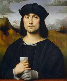 Francesco Francia, Ritratto di Evangelista Scappi, 1500-10, tempera su tavola, 55x44 cm, Uffizi (630×753)