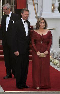 Maria Teresa, Grand Duchess of Luxembourg and Henri,  Grand Duke of Luxembourg, parents of the groom