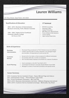 Server Resume Template  Creative Resumes For Download