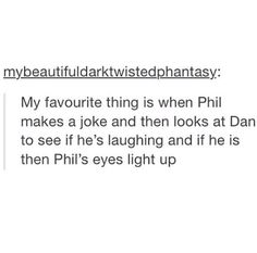 I don't ship phan but this is a very cute thing I've noticed. It's like he's looking for dans approval
