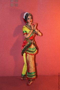 Купить Кукла Индианка, танец Бхаратанатьям - кукла индианка, танец бхаратанатьям, подвижная кукла