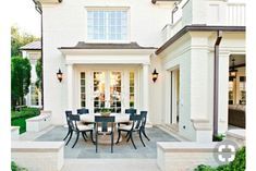 New Ideas For House Exterior Ideas Brick Patio House Design, Outdoor Rooms, Brick Patios, Exterior Design, Beautiful Homes, House, Exterior Paint, Painted Brick, House Exterior