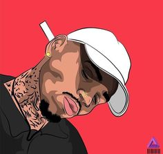 Chris Brown Drawing, Chris Brown Art, Chris Brown Style, Chris Brown Quotes, Chris Brown Wallpaper, Black Couple Art, Chirs Brown, Trap Art, Unique Drawings