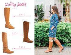This guide for classic riding boots is great. Riding boots outfits are always good for Fall.