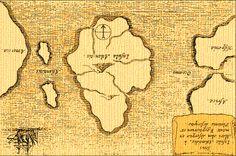 Atlantis. Map of Atlantis