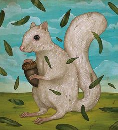 Jason Holley - The mythical albino squirrel of The University of Texas.
