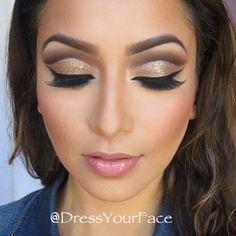 Glitter Cut crease !°•°• Tamanna Roashan •°•°! @ dressyourface My Favorite make up artist