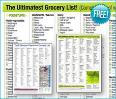Easy Frugal Living: How I Use A Printable Grocery List To Save Money
