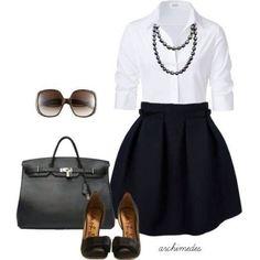 Super cassic look - business attire, office fashion