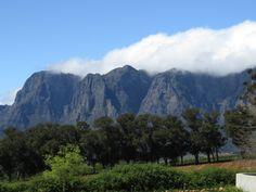 View of majestic #mountains of the #Boland, #Stellenbosch #LeoTrippi in South Africa