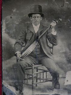 Tinetype of Man with Top Hat and Banjo American Songs, Vocal Coach, Vintage Photographs, The Past, Folk, Banjos, Top Hats, Gumbo, History