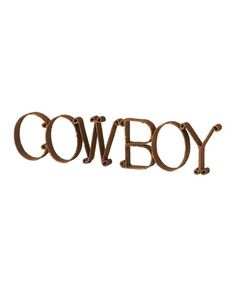 Take a look at this 'Cowboy' Wall Art by Wilco on #zulily today!