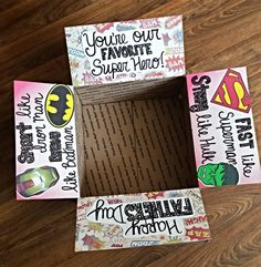 Father's Day Care Package Decorating Kit by OneDayCloserDesign- Our Favorite Super Hero- Deployment Care Package