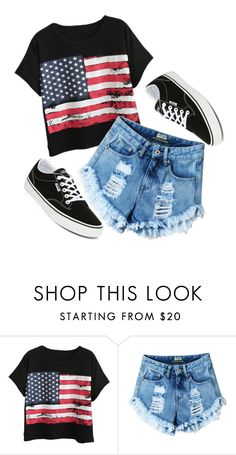 """How? ❤️❤️"" by deima-835 ❤ liked on Polyvore featuring Chicnova Fashion and Vans"