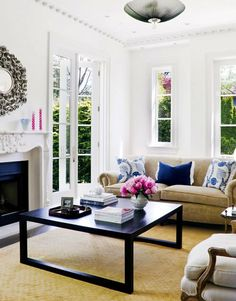 navy + pink | The best coffee tables home design ideas! See more inspiring images on our boards at: http://www.pinterest.com/homedsgnideas/home-design-ideas-coffee-tables/