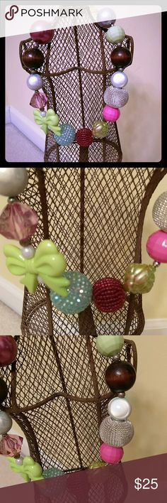 Betsey Johnson necklace NWOT super cute necklace will receive a lot of complements. The colors will work with any outfit. Betsey Johnson Jewelry Necklaces