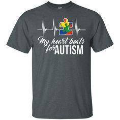 Autism Awareness T-shirts My Heart Beats For Autism Shirts Hoodies Sweatshirts Autism Awareness T-shirts My Heart Beats For Autism Shirts Hoodies Sweatshirts Pe