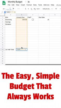 There are many ways to manage your budget. I've developed an easy, simple budget that always keeps you informed about your money. Includes a video and spreadsheet template. Plan Budgétaire, How To Plan, Budgeting Finances, Budgeting Tips, Budgeting System, Monthly Budget Template, Budget Planner Worksheet, Household Budget Spreadsheet, Simple Budget Template
