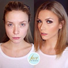 Before & After - Makeup - Face by Meagan