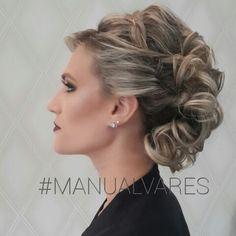 Penteado by @manualvares_ #BYMANU #PENTEADO #NOIVAS #MANUALVARES #GLORIAADEUSPORTUDO
