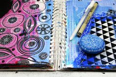 alisaburke: a peek inside my latest class ART JOURNAL BLISS!
