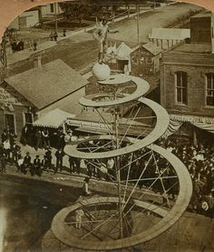 A Death-Defying Stunt. Sideshow Act. Vintage Circus Photos, Vintage Carnival, Circus City, Circo Vintage, Send In The Clowns, Carnival Themes, Bizarre, Big Top, Sideshow