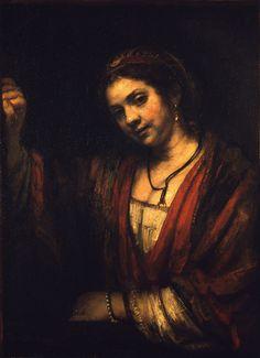 Rembrandt Harmensz van Rijn - Portrait of Hendrickje Stoffels, 1656-1657