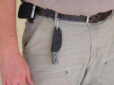 Urban Survival Knife.   Top Knives Ferret FBHP 01 Pocket Sized Fixed Neck Knife