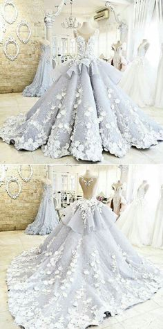 Cinderella-like gown that would look lovely on a bride.