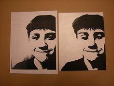 Tart--Teaching Art with Attitude: High Contrast Grid Self-Portraits