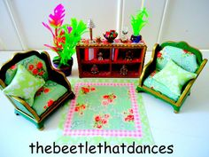 sylvanian families decorated vintage tanya whelan living room set fab extras ebay - Sylvanian Families Living Room Set