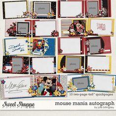 Mouse Mania Autograph Book by Julie Billingsley