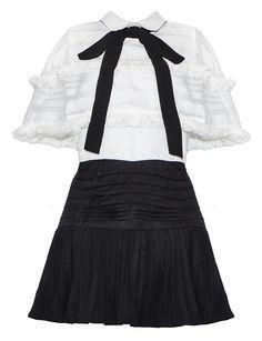 Bow Tie Dress - Cute Two Piece Dress Set -