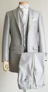 love the grey tux with the ascot