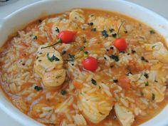 Trainee de cozinheira: Arroz de peixe