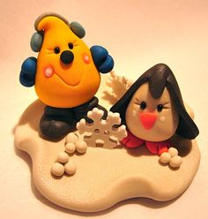 PARKER & FRIEND Polymer Clay Character Parker with Penguin Friend by @KatersAcres --- ADOPTED