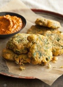 Big Vegan Spanish Chickpea Fritters from Robin Asbell